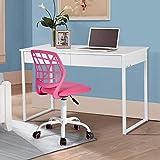 Silla de escritorio Fanilife, ajustable y giratoria sin brazos de diseño, para niños, silla para el ordenador, para...