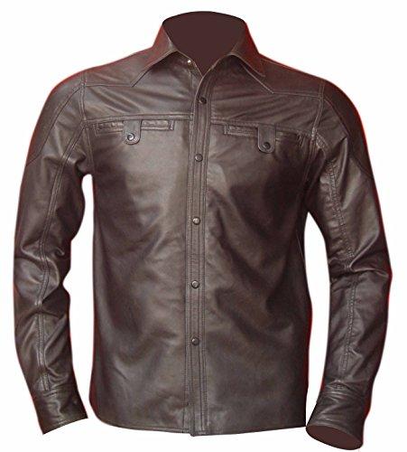 Bespoke Tailored Leather en Cuir véritable Marron pour Homme Fabriqué en Mouton Nappa Marron Marron