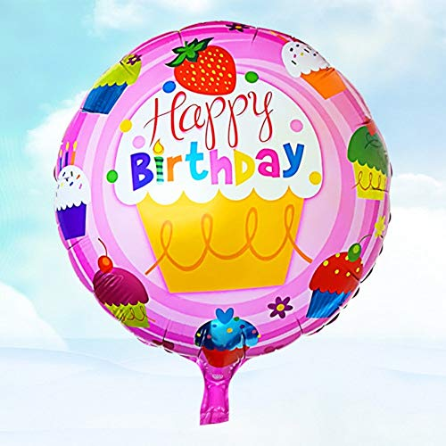 Best Price Xucus Birthday Balloons Cake Balloon Happy Birthday Aluminum Balloons with Hanging Holes ...