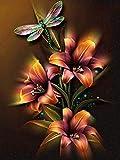 5D Diamond Painting DIY Kit Round Diamond Art-Tulip Flower 40x45cm Crystal Picture Bordado Kit Manualidades Punto de cruz cosido a mano