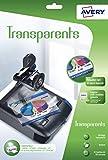 AVERY - Pochette de 15 transparents, Format A4, Impression jet d'encre,