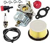 Piezas de repuesto para cortacésped 632230 632272 Kit de carburador en carburador con filtro de aire 30707 de 90 grados de cierre de combustible de cierre de combustible para TECUMSEH H30 H30 H60 HH60