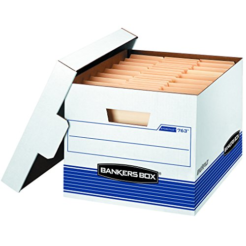 Bankers Box STOR/File Medium-Duty Storage Boxes, FastFold, Lift-Off Lid, Letter/Legal, Value Pack of 30 (0076316)