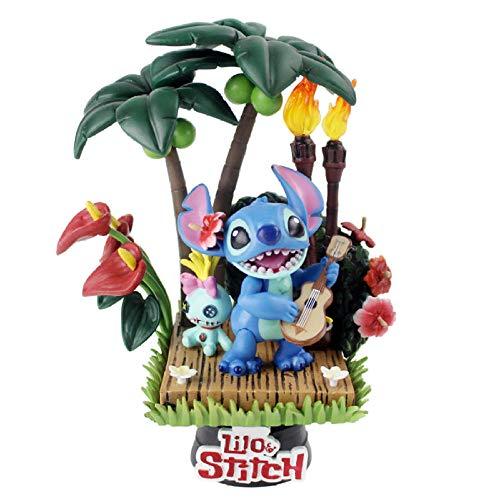 Anime Statue Modelllilo Und Stich Figur Spielzeug Lilo Scrump Stitch Spielt Gitarre Freund Wählen Sie Modell Puppe Mit Basis 15Cm