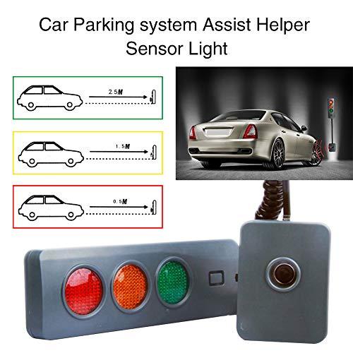 Ayuda de estacionamiento en garaje, Sensor de aparcamiento, Sistema de estacionamiento con luz segura de 3 colores Sensor de guía de ayuda de parada de distancia para garaje casero