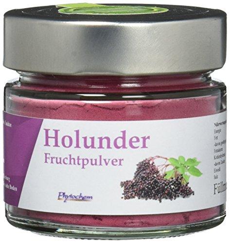 HOLUNDER PULVER | reines Holunder Fruchtpulver im hochwertigen Glas | 70 Gramm | Premium Qualität aus Deutschland