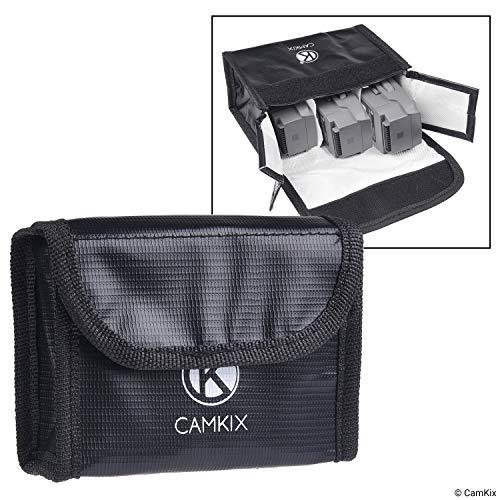 Explosionsgeschützte LiPo Akku Tasche für DJI Mavic 2 - Feuerresistente Sicherheits- und Aufbewahrungstasche - Sichere Ladung + Transport - Für 3 Mavic 2 Akkus - Lösung für Flugzeug-Handgepäck