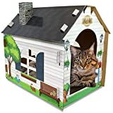 ASPCA ACC Festive Cat Scratch House w/ Catnip, Cat Tunnel, Christmas Wands & Toys