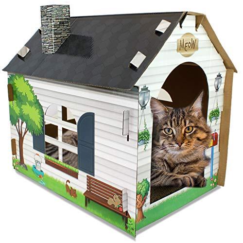 ASPCA Cat House & Scratcher w/ Bonus Catnip Included