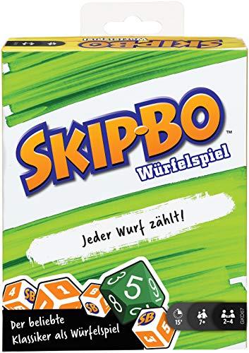 Mattel Games GKD67 - Skip-Bo Würfelspiel, mit Trockenlöschtafeln und Markern, für Kinder ab 7 Jahren