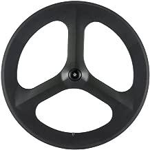 Sunrise Bike Full Carbon 70mm Tri-Spoke Wheel for Road Bike only Front Wheel Clincher