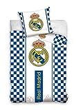 Mercury Funda Nórdica Y Almohada Diseño Real Madrid, Mezcla De Algodón, Blanco, 160x3x200 cm