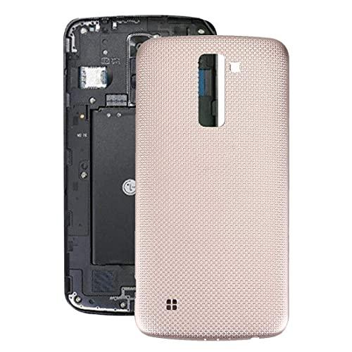 HANXIAOLONGA Repuestos para teléfonos móviles Carcasa de Repuesto Tapa Trasera de la batería Tapa Trasera con Chip NFC para LG K10 (Negro) (Color: Blanco) (Color : Gold)