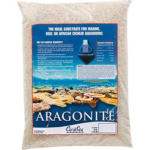Carib Sea Aragonite Aquarium Sand, 10 lbs, Tan