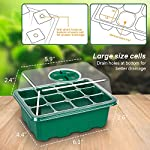 5-Pack Seed Trays Seedling Starter Tray,Humidity Adjustable Plant Starter Kit with Dome and Base Greenhouse Grow Trays… 9 【Keep an eye on your plant】: The only design in the market- High quality clear plastic trays of this seed grow kit make it easier to observe your plants without interrupting the process. 【Total control】: Adjustable vents of this seed trays allow you to regulate the temperature and humidity of your seedling environment, so you have total control over the germination process. 【Perfect for the heat mat】: With its excellent resistance to high and low temperature, these seedling trays are strong enough to be used on a heat mat and no-worry melting.