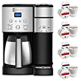 Cuisinart SS-20 Coffee Center 10-Cup Thermal Single-Serve Brewer Coffeemaker Silver (SS-20) Bundle with Victor Allen Colombian Single Serve Brew Cups of Coffee 12 Pack
