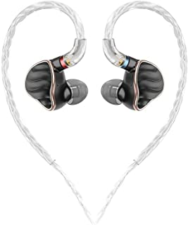 FiiO FH7 5-Drive (1DD + 4BAs) Hybrid in-Ear Earphones/Headphones with DIY Sound Filters,High Fidelity for Smartphones/PC/T...