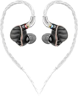 FiiO FH7 New 4 BA 1 Dynamic Driver Hybrid Flagship In-Ear Monitors Headphones, Black