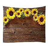DreamyDesign Sonnenblumen Tapisserie Gänseblümchen Wandteppich Modern Wandtuch Tischdecke Strandtuch Wandbehang Dekoration Mehrfarbiger Wandteppich (Sonnenblume 1, 180 x 260 cm)