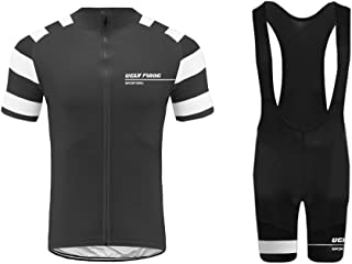 Uglyfrog Mens Pro Team Style Short Sleeve Cycling Jersey Suit Jersey and Bib Shorts XSNX01S