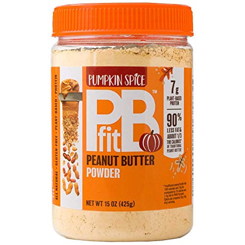 PBfit PBfit Pumpkin Spice All-Natural Peanut Butter Powder, Powdered Peanut Spread From Real Roasted Pressed Peanuts, 7g of Protein (15 Ounce .), 15 Ounce