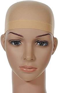 قبعات شعر مستعار من النايلون للنساء والرجال، لون بيج فاتح