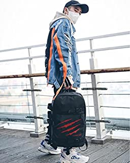 Leng QL Personality Backpacks Large-Capacity Student Schoolbag Computer Bag Leisure Traveling Backpack