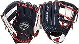 "Easton Professional Youth Baseball Glove, 10"", RHT, Navy/White/Red, I Web, PY10BR, Multicolor, Medium"
