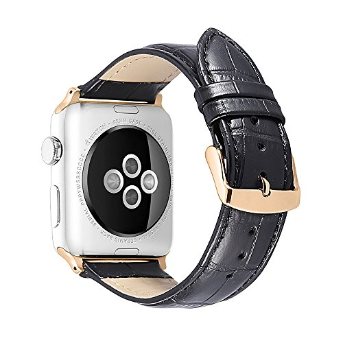 iStrap Pelle Apple Watch 38 mm 42mm 44mm 40mm vera cinturino di ricambio cinturino bracciale cinturino per Apple Watch sport Edition Series 1 & 2 & 3 4