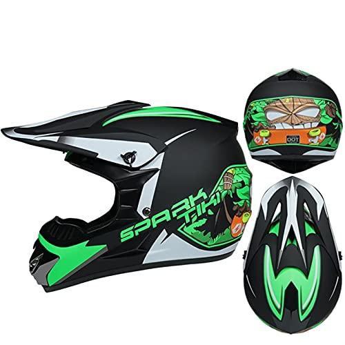 DZSLTC Cascos Moto Y Elegantes Hombre Mujer Motocross Casco Motocross Racing Casco Cross Helm Capacetes Casco Integral Protector Seguridad Cabeza (Color : U, Tamaño : L)
