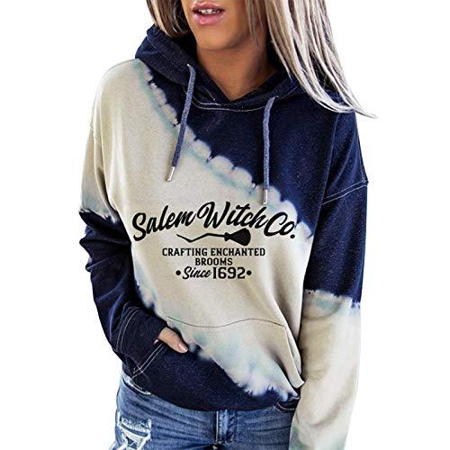 Higlles Pullover Damen Hoodie Damen Oversize Damen Weihnachten Mit Motiv gedruckt Farbblock Kapuze Langarm Pullover Casual Sweatshirt Top