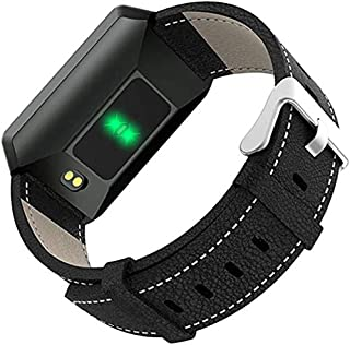 Hngyanp Precisión Relojes Inteligentes, IP67 Resistente al Agua podómetro calorías pulsómetro Contador de detección del sueño compatibles con Android y iOS (Color : Black)