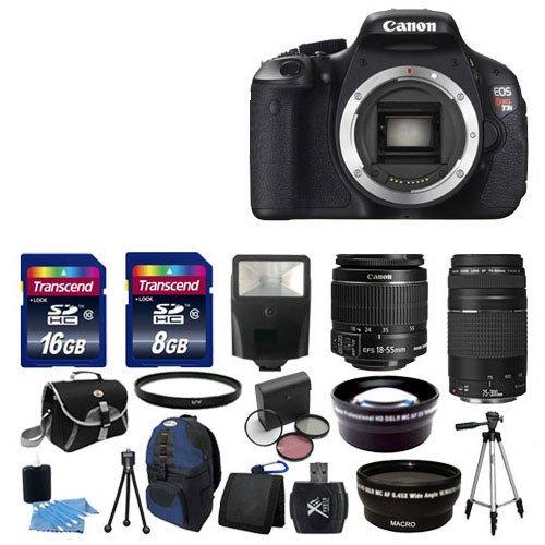 Hot Sale NEW Canon EOS Rebel T3i SLR Camera + 4 Lens Kit 18-55 IS 75-300 + 24GB Full Kit. My KN (NEW Canon EOS Rebel T3i SLR Camera + 4 Lens Kit 18-55 IS 75-300 + 24GB Full Kit)