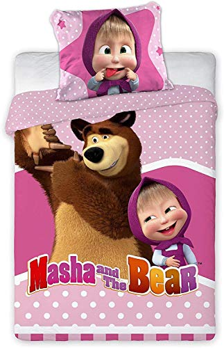 Faro Tekstylia Masha and The Bear Babybettwäsche Masha 047 100x135 cm