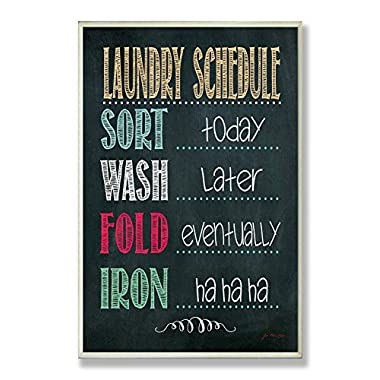 Stupell Home Décor Laundry Schedule Chalkboard Bathroom Wall Plaque, 10 x 0.5 x 15, Proudly Made in USA