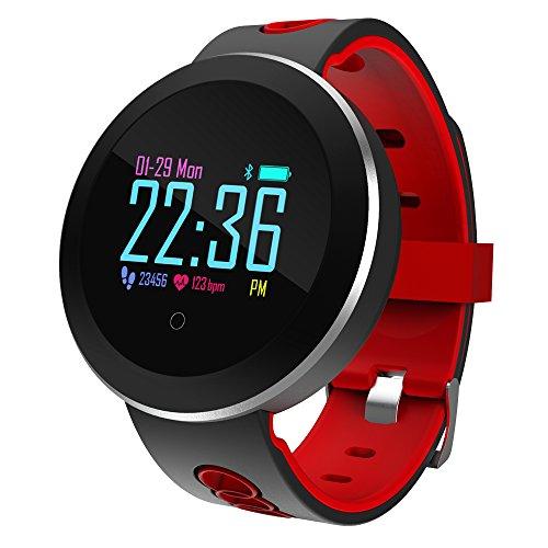 LI DANNA Smartwatch Für IOS/Android Pulsmesser/Blutdruckmessung/Informationen/Kamerasteuerung/APP Control Pedometer/Anruferinnerung/Sleep Tracker/Sitzende Erinnerung/Wecker,C