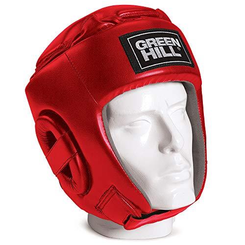 GREEN HILL Casco da Kick Boxing Glory Head Guard CASCHETTO (Rosso, L)