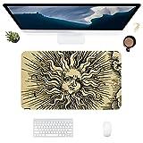 HUBNYO SunLeather - Alfombrilla de escritorio para oficina, superficie lisa, fácil de limpiar, resistente al agua, protector de escritorio para la oficina/juegos en el hogar