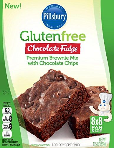 Pillsbury Gluten Free Chocolate Fudge Premium Brownie Mix with Chocolate Chips, 15.5 oz