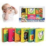 BelleStyle Libro Blando de Bebé, 6 PCS Libro Activity Tejido Blando Papel del Bebé Juguete, Libro...