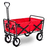 LIFE CARVER Garden Cart Foldable Pull Wagon