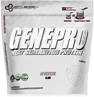 GENEPRO Medical Grade Protein,45 Servings by Musclegen Research - Premium Protein for Absorption, Muscle Growth & Mix-Abilty. Gluten-Free, No Sugar, Flavorless and Mixes with Any Drink