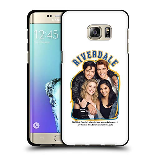 Head Case Designs Officially Licensed Riverdale Riverdale Cast 2 Art Black Soft Gel Case Compatible with Samsung Galaxy S6 Edge+ / Plus