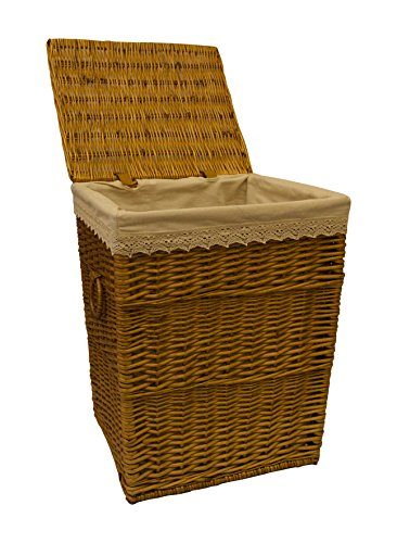 Home Delights Large Laundry Basket Brown Rattan Wicker Basket Bedroom Basket Bathroom Space Storage