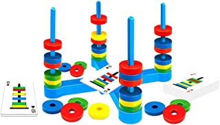 Board Game, Toptrend Puzzle Toy Magnetic Ring Matching Game for Ages 3+ Year Old Boys & Girls Birthday Gift, Fun Match Card Game for Families and Children