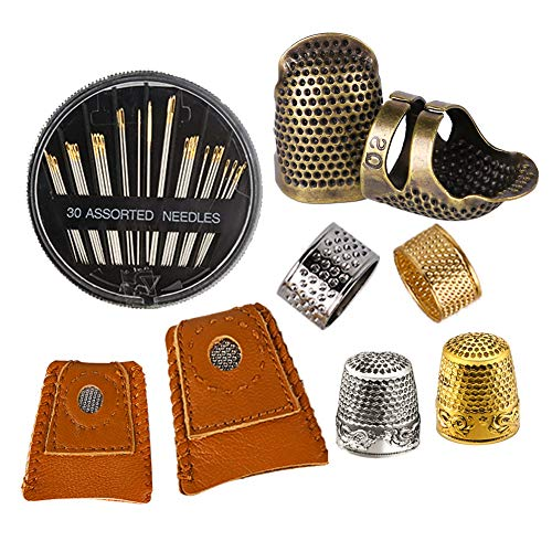 Tailor Tools Thimble Sewing Metal Thimble Pack of 2 Fingertip Protection for Hand Sewing and Quilting