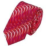 Louis Binder de Luxe Krawatte Tie Schlips große Auswahl viele Farben 118 rot magenta