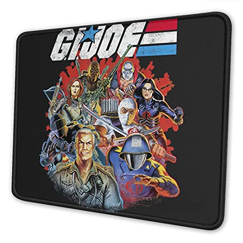 Atsushi G.I. Joe The Mouse Pad with Stitched Edge Premium-Textured Mouse Mat Rectangle Non-Slip Rubber Base Gaming Vertical Mouse Pad,for Laptop Computer & Pc
