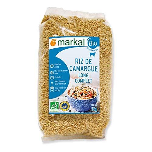 MARKAL Riz de Camargue long complet 1Kg Bio -