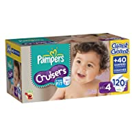 Pampers Cruisers Diapers Size 4 Giant Pack, 120 Count by Pampers